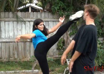 Mikaela Kicks His Head In (Balls Too)
