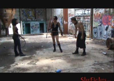 Punishment For A Video Pirate: Moriah & Danica Rough Up Charlie Stilletto