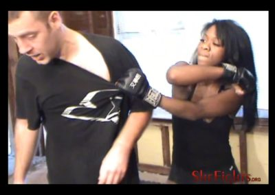 Brutal Beatdown And Domination Alysha And Army Guy