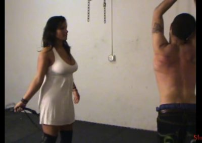 Bullwhipping Her Admirer