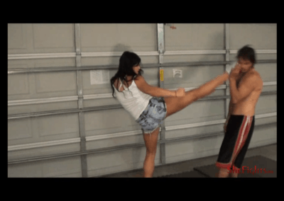 More Head Kicks and Foot Humiliation